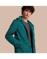 Burberry | Multicolor Showerproof Hooded Coat With Removable Warmer Bright Teal for Men | Lyst