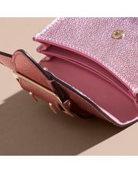 Burberry Multicolor Metallic Leather Card Case Pale Orchid
