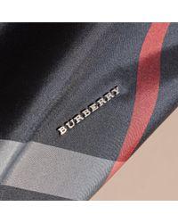 Burberry - Blue Check Detail Technical Packaway Rucksack Navy for Men - Lyst