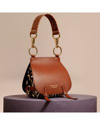 Burberry | Brown The Bridle Bag In Leopard-print Calfskin And Leather | Lyst