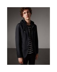 Burberry Black Tailored Jacket With Detachable Hooded Warmer - Men | for men