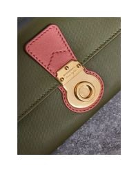 Burberry - Two-tone Trench Leather Continental Wallet Moss Green/ Blossom Pink - Lyst