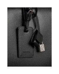 Burberry - London Leather Holdall Black for Men - Lyst