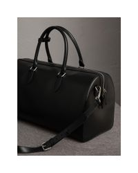 Burberry - London Leather Holdall Black for Men - Lyst