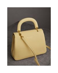 Burberry - The Medium Dk88 Top Handle Bag Camomile Yellow - Lyst