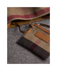 Burberry - Brown The Small Ashby In Canvas Check and Leather Bag - Lyst