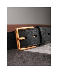 Burberry - Black Grainy Leather Belt for Men - Lyst