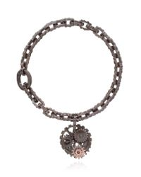 Bottega Veneta | Metallic Oxidised Silver Cog Bracelet | Lyst