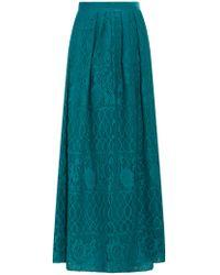 Alberta Ferretti | Blue Lace Skirt | Lyst