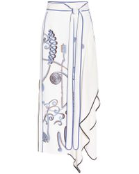 Peter Pilotto | White Embroidered Stretch-crepe Maxi Skirt | Lyst
