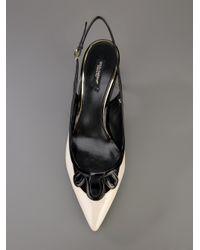 Dolce & Gabbana - Black Pointed Sling Back Pump - Lyst