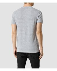AllSaints - Gray Baltis Tonic Crew T-shirt for Men - Lyst