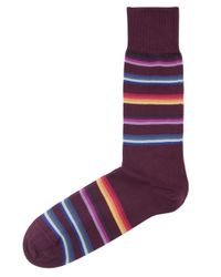 Paul Smith - Red Multi Stripe Socks for Men - Lyst