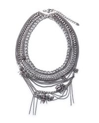 Zara | Metallic Braided Chain Necklace | Lyst