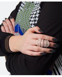 Vivienne Westwood - Metallic Diamante Armour Ring - Lyst