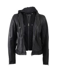 Lamarque - Black Two In One Leather Jacket - Lyst