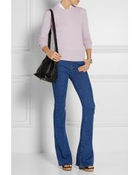 Burberry - Purple Cashmere Sweater - Lyst