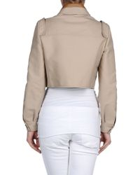 Valentino | Natural Cropped Cotton Blazer | Lyst