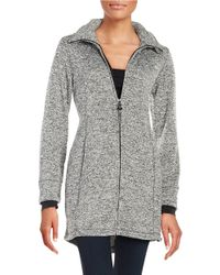 Calvin Klein | Blue Zip Front Sweatshirt | Lyst