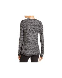 Aqua Black Asymmetric Zip Crewneck Sweater