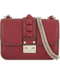 Valentino | Red Rockstud Lock Mini Leather Clutch Bag - For Women | Lyst