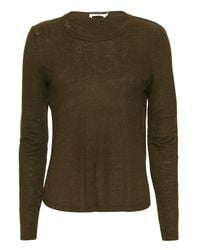 A.L.C. | Brown Exclusive Long-sleeve Cross-back Top | Lyst