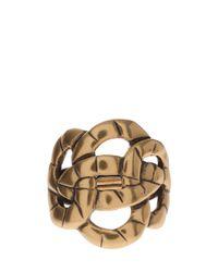 Oscar de la Renta - Metallic Swirl Rope Ring - Lyst