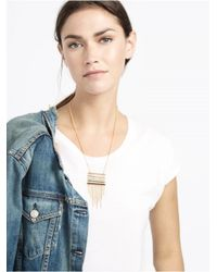 BaubleBar | Metallic Lined Up Fringe Pendant | Lyst
