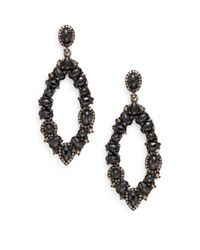 Bavna | Black Spinel, Champagne Diamond & Sterling Silver Drop Earrings | Lyst