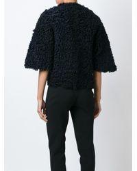 DROMe - Black Boxy Shearling Jacket  - Lyst