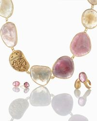 Yvel - Metallic Pink Sapphire Ring - Lyst