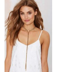 Nasty Gal | Metallic Veena Lariat Choker Necklace | Lyst