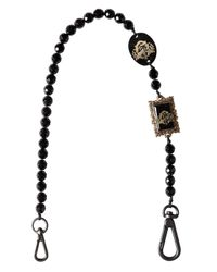 Lords & Fools - Black Glass Beads Pocket Chain - Lyst