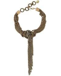 Lanvin - Metallic Multiple Chain Necklace - Lyst