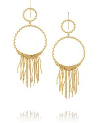 Aurelie Bidermann - Metallic Marisa Gold-plated Earrings - Lyst