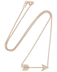 Anita Ko | Metallic Arrow 18karat Rose Gold Diamond Necklace | Lyst