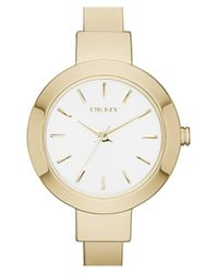 DKNY | Metallic 'stanhope' Bangle Watch | Lyst