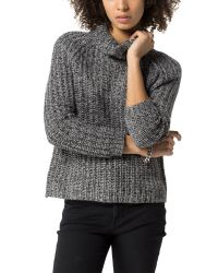 Tommy Hilfiger | Gray Ribbed Roll Neck Sweater | Lyst