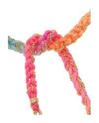 Carolina Bucci | Pink Lucky 18-Karat Gold And Silk Charm Bracelet | Lyst