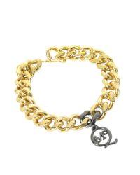 McQ - Metallic Chunky Chain Bracelet - Lyst