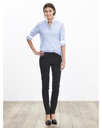 Banana Republic - Black Sloan-fit Dot Slim Ankle Pant - Lyst