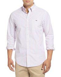 Vineyard Vines - Pink 'folly Check - Tucker' Slim Fit Sport Shirt for Men - Lyst