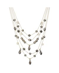 INC International Concepts - Metallic Goldtone Hematite Bead and Crystal Fireball Illusion Necklace - Lyst