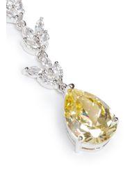 CZ by Kenneth Jay Lane | Yellow Foliage Pear Cut Cubic Zirconia Drop Earrings | Lyst
