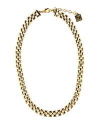 Anne Klein | Metallic Gold-tone Thin Collar Necklace | Lyst