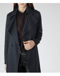 Reiss | Blue Radzi Relaxed Trench Coat | Lyst