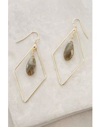 Anthropologie - Gray Nexus Earrings - Lyst