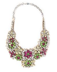 Valentino - Multicolor Embellished Bib Necklace - Lyst