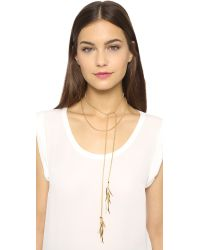 Eddie Borgo | Metallic Pave Prickle Lariat Necklace - Gold | Lyst