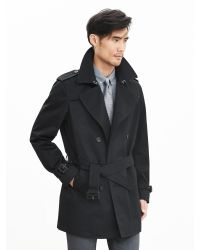 Banana Republic | Black Double-breasted Trench for Men | Lyst